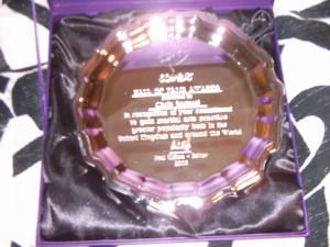 Combat hall of fame award