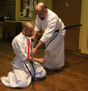 Application of kata being taught