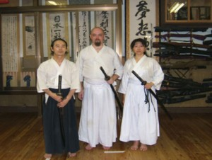Chris with Fukoshima sensei