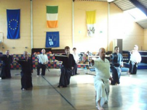 Chris Teaching Iaido in Ireland