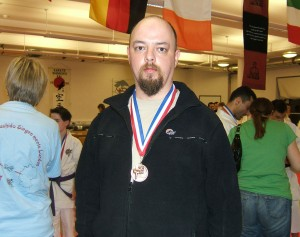 Winning a medal at a kobudo kata competition