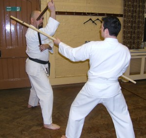 Deflecting with the nunchaku!