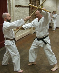 Tonfa against bo.