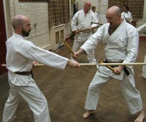 Kenneth(right) gains Nidan.